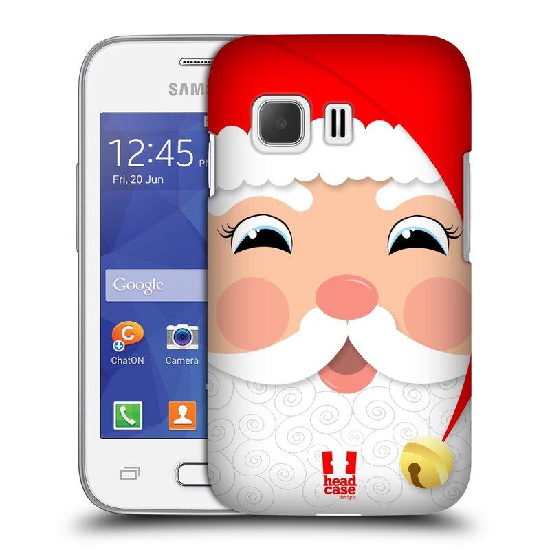Plastové pouzdro na mobil Samsung Galaxy Young 2 HEAD CASE VÁNOCE SANTA (Kryt či obal na mobilní telefon Samsung Galaxy Young 2 SM-G130)