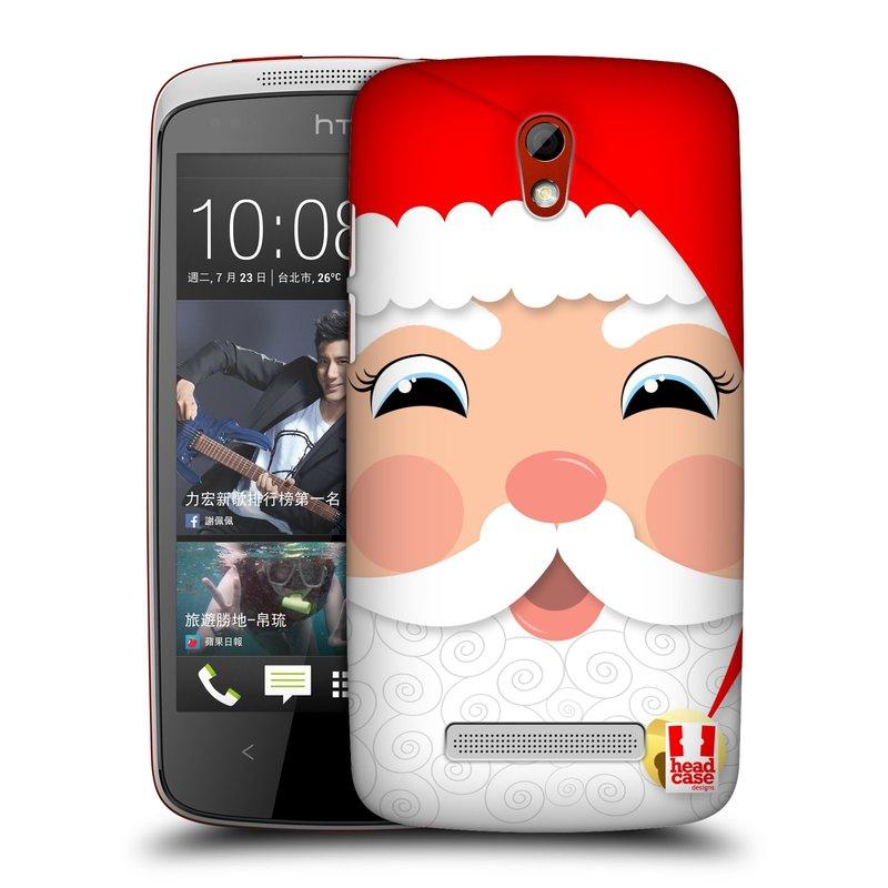 Plastové pouzdro na mobil HTC Desire 500 HEAD CASE VÁNOCE SANTA (Kryt či obal na mobilní telefon HTC Desire 500)