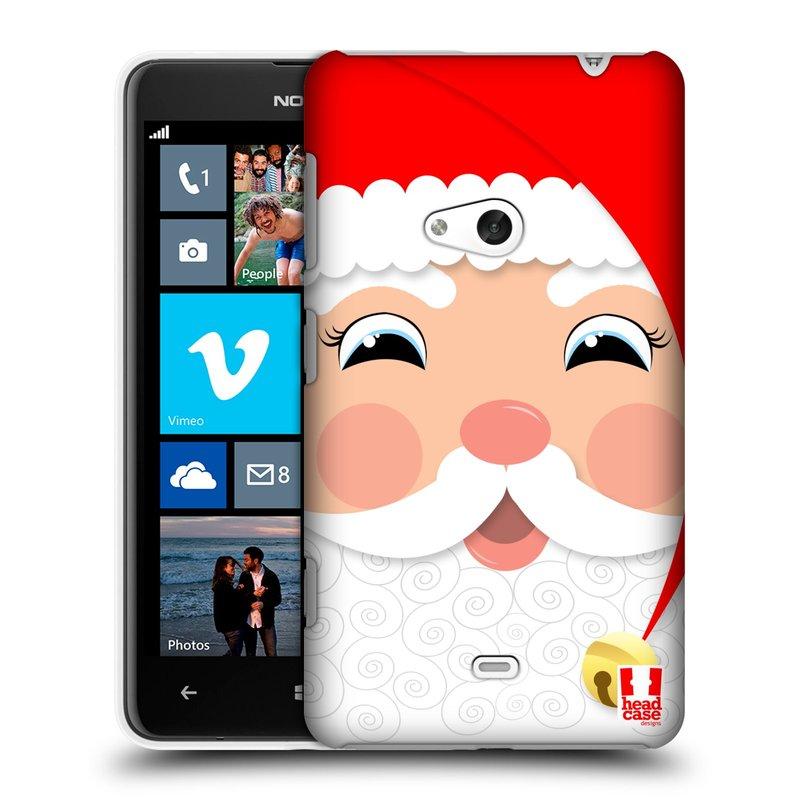 Plastové pouzdro na mobil Nokia Lumia 625 HEAD CASE VÁNOCE SANTA (Kryt či obal na mobilní telefon Nokia Lumia 625)