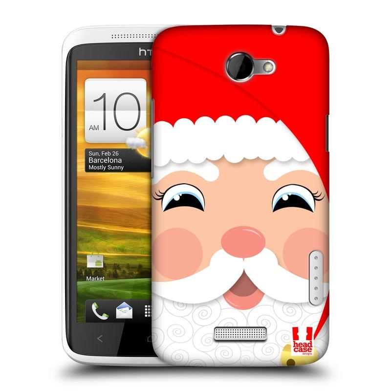 Plastové pouzdro na mobil HTC ONE X HEAD CASE VÁNOCE SANTA (Kryt či obal na mobilní telefon HTC ONE X)