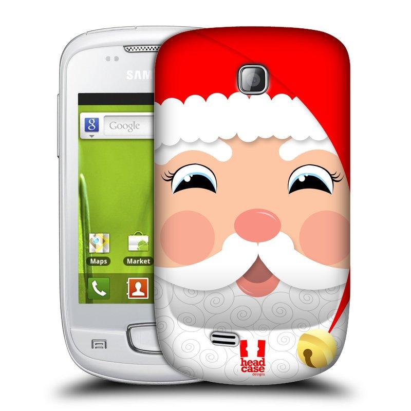 Plastové pouzdro na mobil Samsung Galaxy Mini HEAD CASE VÁNOCE SANTA (Kryt či obal na mobilní telefon Samsung Galaxy Mini GT-S5570 / GT-S5570i)