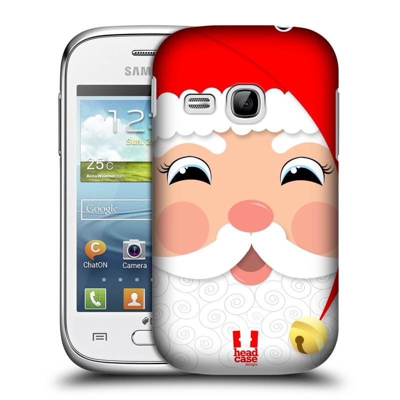 Plastové pouzdro na mobil Samsung Galaxy Young HEAD CASE VÁNOCE SANTA (Kryt či obal na mobilní telefon Samsung Galaxy Young GT-S6310)