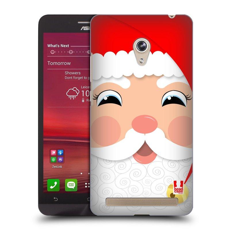 Plastové pouzdro na mobil Asus Zenfone 6 HEAD CASE VÁNOCE SANTA (Kryt či obal na mobilní telefon Asus Zenfone 6 A600CG / A601CG)
