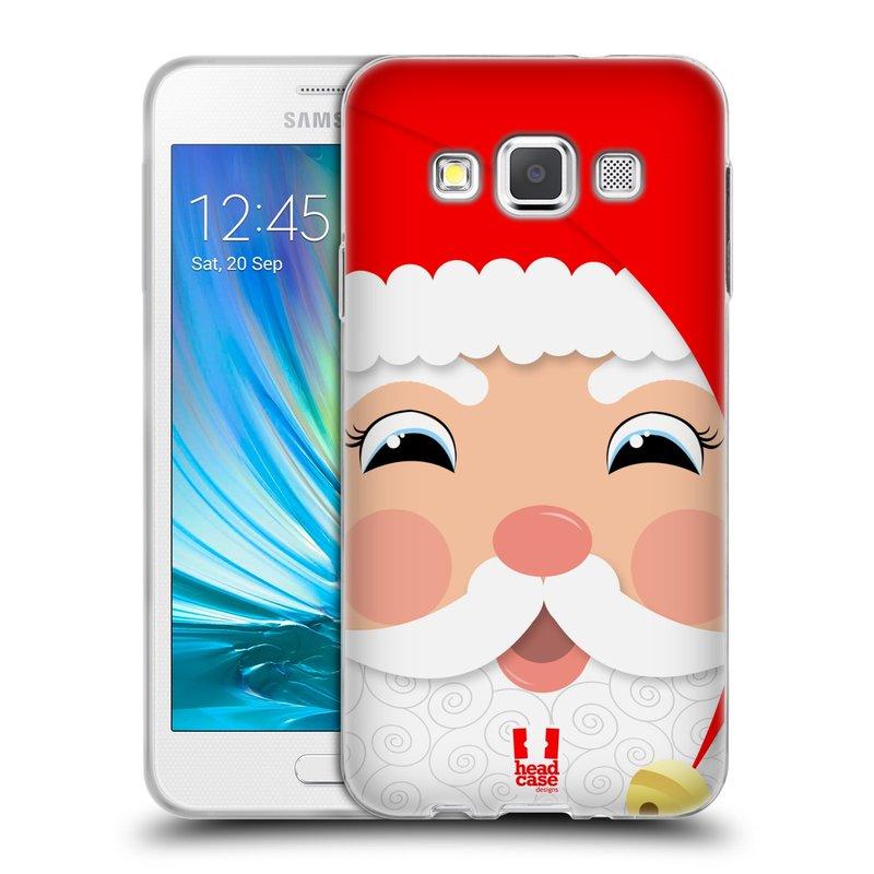 Silikonové pouzdro na mobil Samsung Galaxy A3 HEAD CASE VÁNOCE SANTA (Silikonový kryt či obal na mobilní telefon Samsung Galaxy A3 SM-A300)