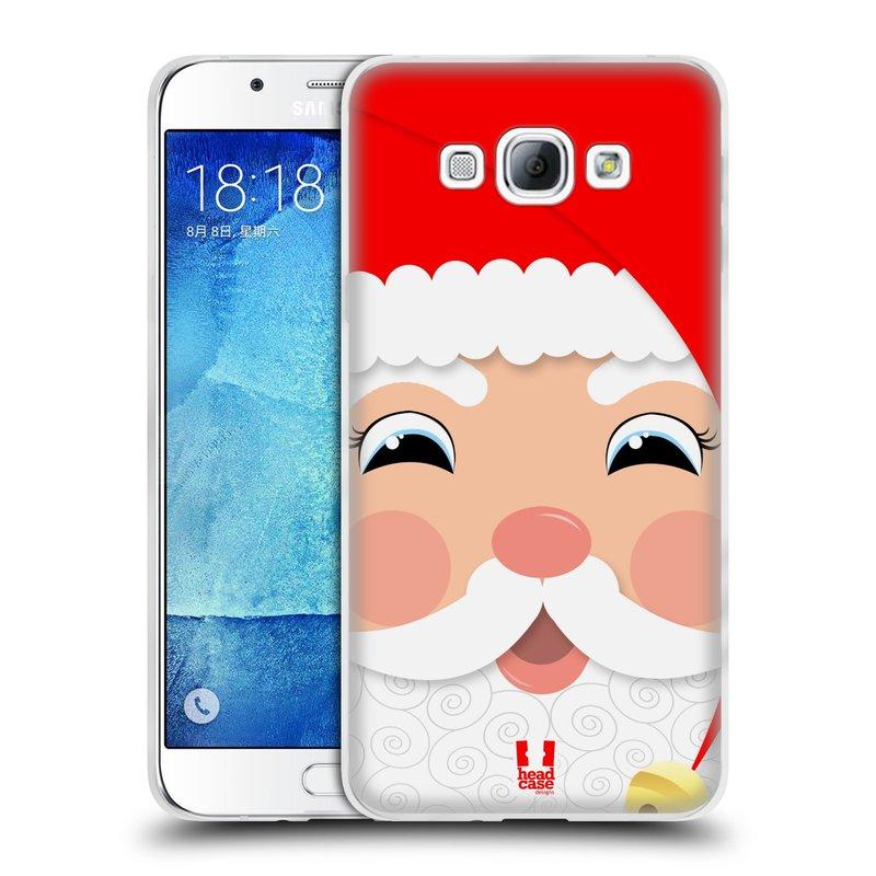 Silikonové pouzdro na mobil Samsung Galaxy A8 HEAD CASE VÁNOCE SANTA (Silikonový kryt či obal na mobilní telefon Samsung Galaxy A8 SM-A800)