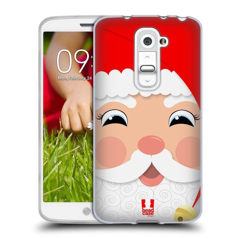 Silikonové pouzdro na mobil LG G2 Mini HEAD CASE VÁNOCE SANTA (Silikonový kryt či obal na mobilní telefon LG G2 Mini D620)
