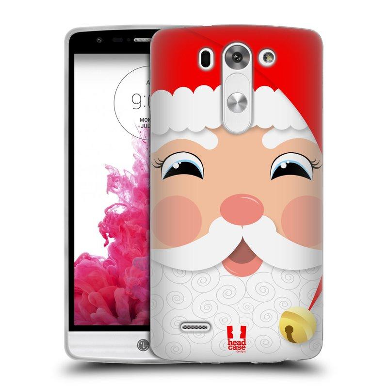 Silikonové pouzdro na mobil LG G3s HEAD CASE VÁNOCE SANTA (Silikonový kryt či obal na mobilní telefon LG G3s D722)