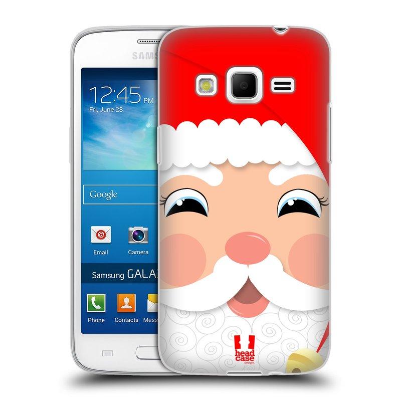 Silikonové pouzdro na mobil Samsung Galaxy Express 2 HEAD CASE VÁNOCE SANTA (Silikonový kryt či obal na mobilní telefon Samsung Galaxy Express 2 SM-G3815)