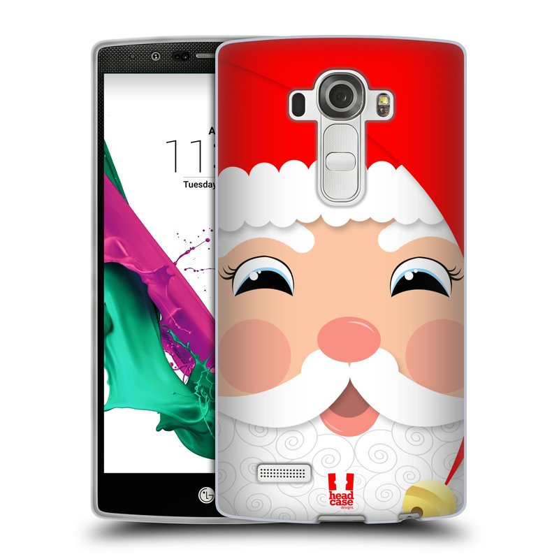 Silikonové pouzdro na mobil LG G4 HEAD CASE VÁNOCE SANTA (Silikonový kryt či obal na mobilní telefon LG G4 H815)