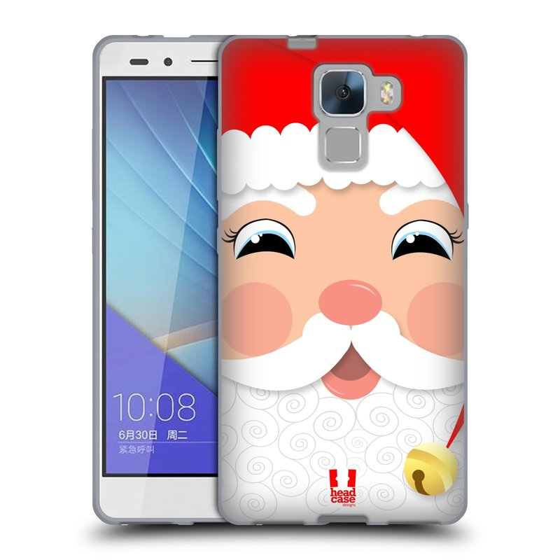 Silikonové pouzdro na mobil Honor 7 HEAD CASE VÁNOCE SANTA (Silikonový kryt či obal na mobilní telefon Huawei Honor 7)