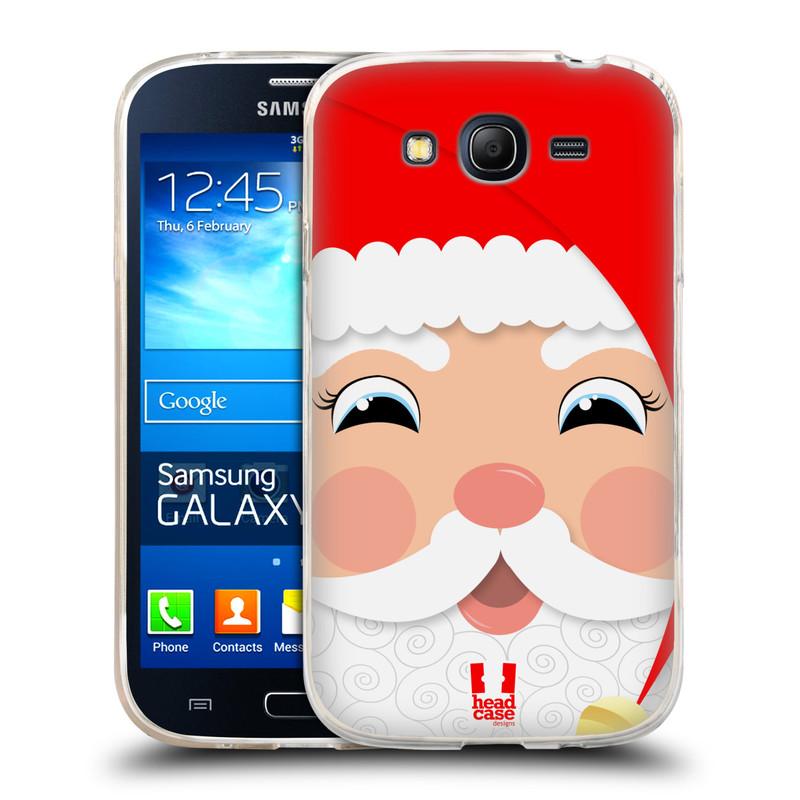 Silikonové pouzdro na mobil Samsung Galaxy Grand Neo HEAD CASE VÁNOCE SANTA (Silikonový kryt či obal na mobilní telefon Samsung Galaxy Grand Neo GT-I9060)