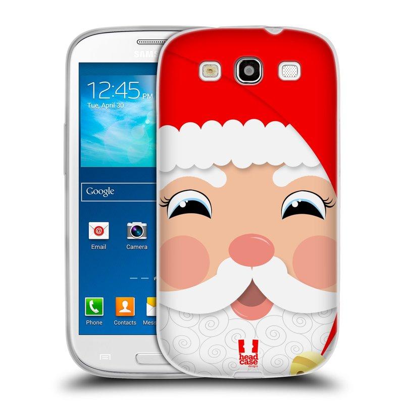 Silikonové pouzdro na mobil Samsung Galaxy S3 Neo HEAD CASE VÁNOCE SANTA (Silikonový kryt či obal na mobilní telefon Samsung Galaxy S3 Neo GT-i9301i)
