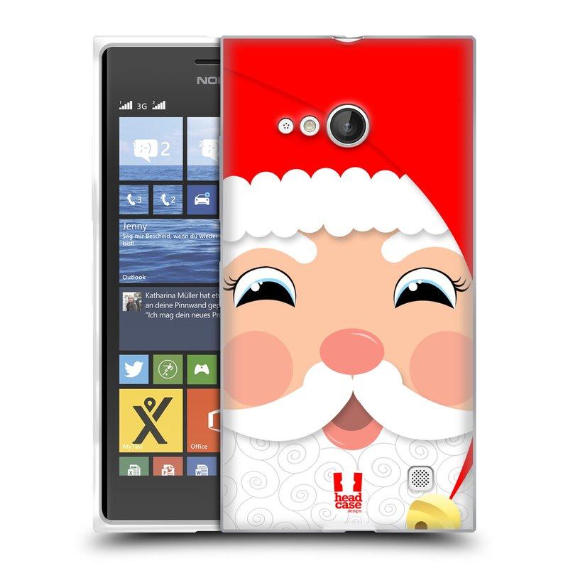Silikonové pouzdro na mobil Nokia Lumia 730 Dual SIM HEAD CASE VÁNOCE SANTA (Silikonový kryt či obal na mobilní telefon Nokia Lumia 730 Dual SIM)