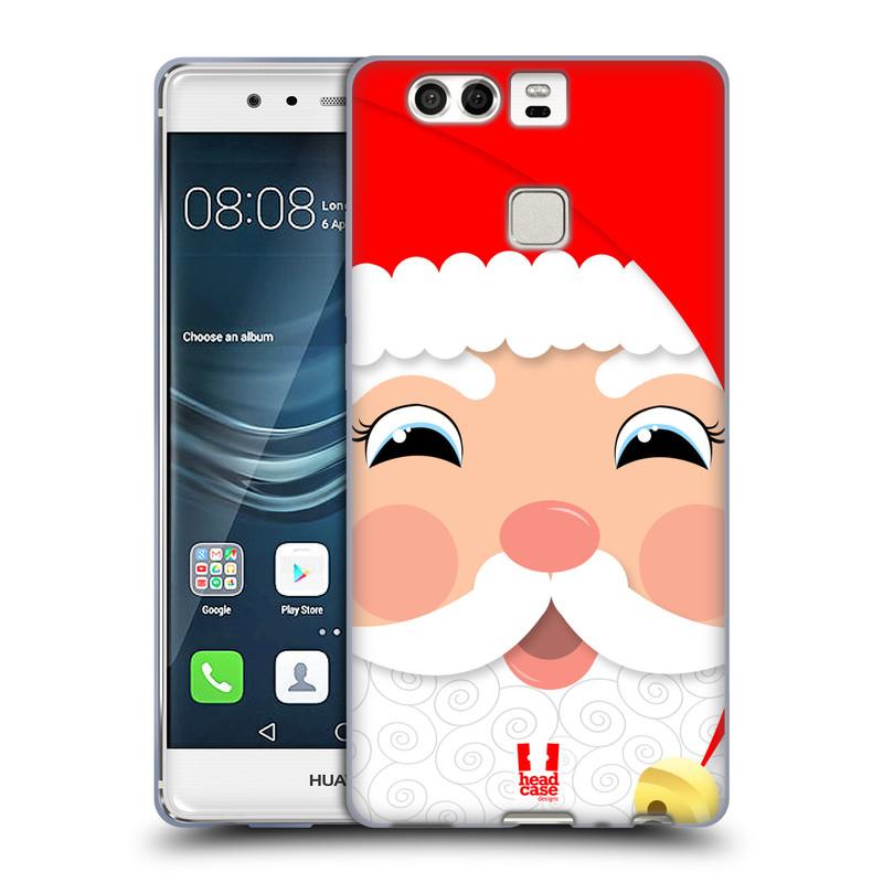 Silikonové pouzdro na mobil Huawei P9 HEAD CASE VÁNOCE SANTA (Silikonový kryt či obal na mobilní telefon Huawei P9)
