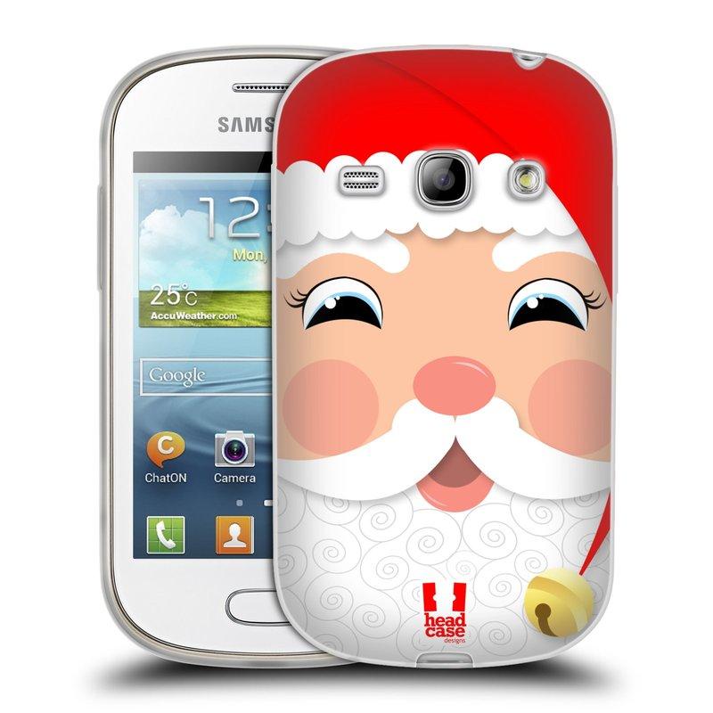 Silikonové pouzdro na mobil Samsung Galaxy Fame HEAD CASE VÁNOCE SANTA (Silikonový kryt či obal na mobilní telefon Samsung Galaxy Fame GT-S6810)