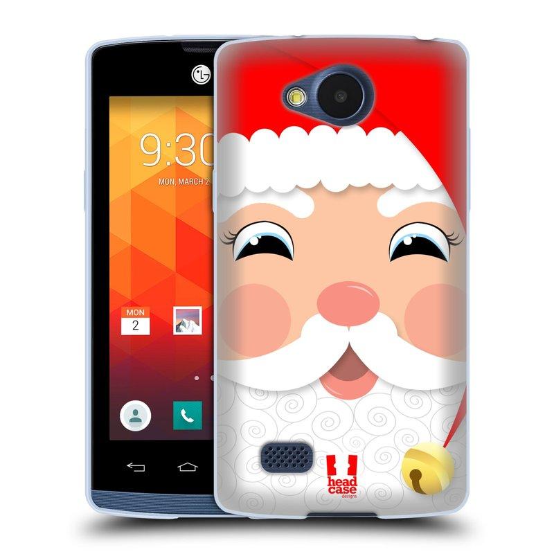 Silikonové pouzdro na mobil LG Joy HEAD CASE VÁNOCE SANTA (Silikonový kryt či obal na mobilní telefon LG Joy H220)