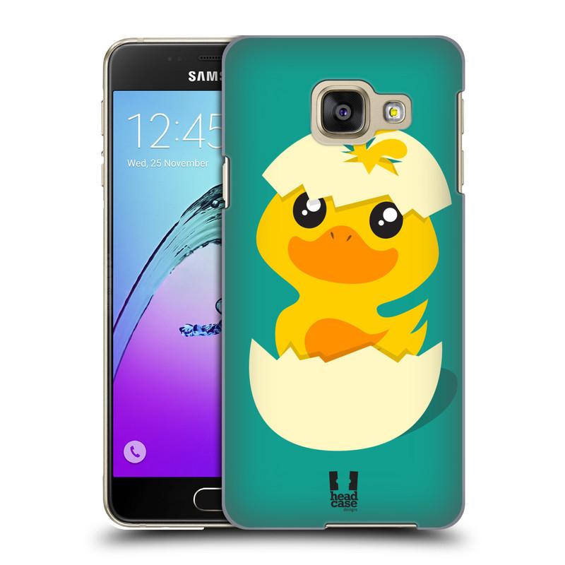 Plastové pouzdro na mobil Samsung Galaxy A3 (2016) HEAD CASE KACHNIČKA Z VAJÍČKA (Kryt či obal na mobilní telefon Samsung Galaxy A3 (2016) SM-A310F)