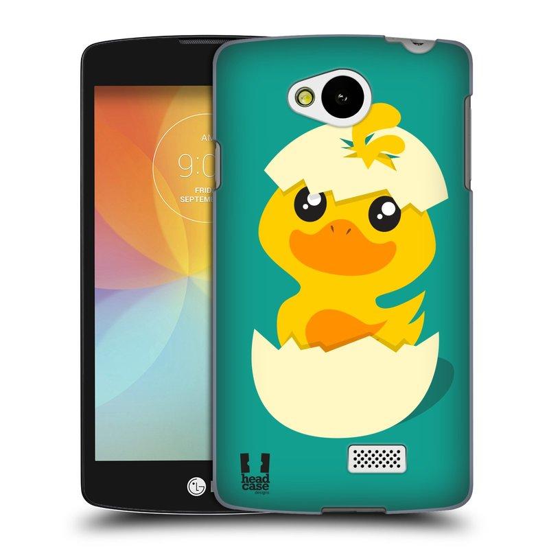 Plastové pouzdro na mobil LG F60 HEAD CASE KACHNIČKA Z VAJÍČKA (Kryt či obal na mobilní telefon LG F60 D390n)