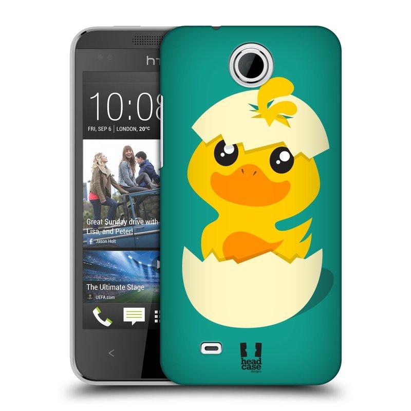 Plastové pouzdro na mobil HTC Desire 300 HEAD CASE KACHNIČKA Z VAJÍČKA (Kryt či obal na mobilní telefon HTC Desire 300)