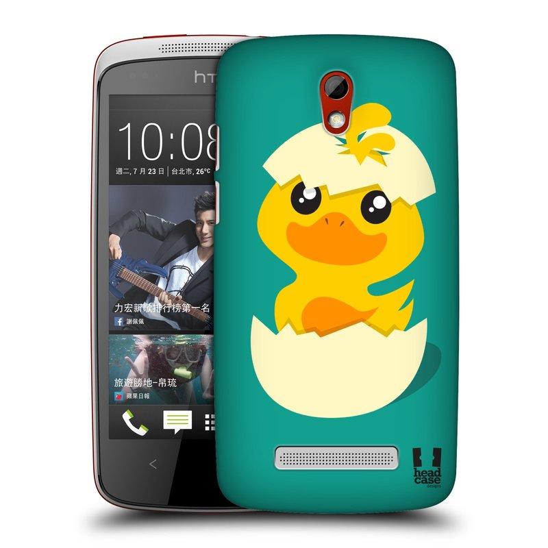 Plastové pouzdro na mobil HTC Desire 500 HEAD CASE KACHNIČKA Z VAJÍČKA (Kryt či obal na mobilní telefon HTC Desire 500)