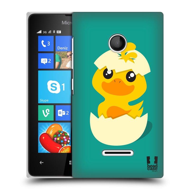 Plastové pouzdro na mobil Microsoft Lumia 435 HEAD CASE KACHNIČKA Z VAJÍČKA (Kryt či obal na mobilní telefon Microsoft Lumia 435)