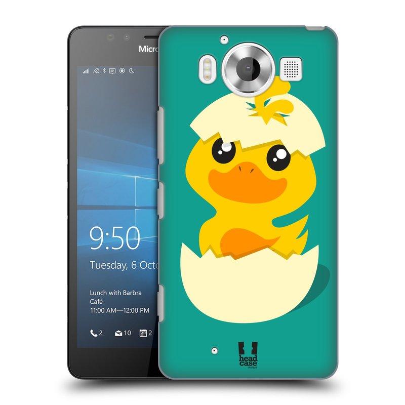 Plastové pouzdro na mobil Microsoft Lumia 950 HEAD CASE KACHNIČKA Z VAJÍČKA (Kryt či obal na mobilní telefon Microsoft Lumia 950)