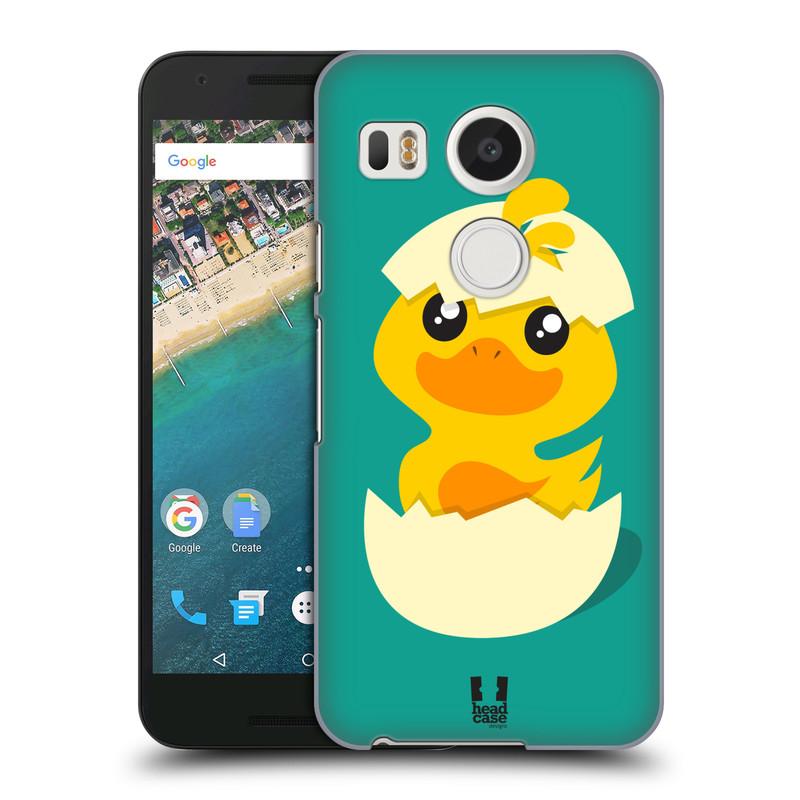 Plastové pouzdro na mobil LG Nexus 5X HEAD CASE KACHNIČKA Z VAJÍČKA (Kryt či obal na mobilní telefon LG NEXUS 5X H791)