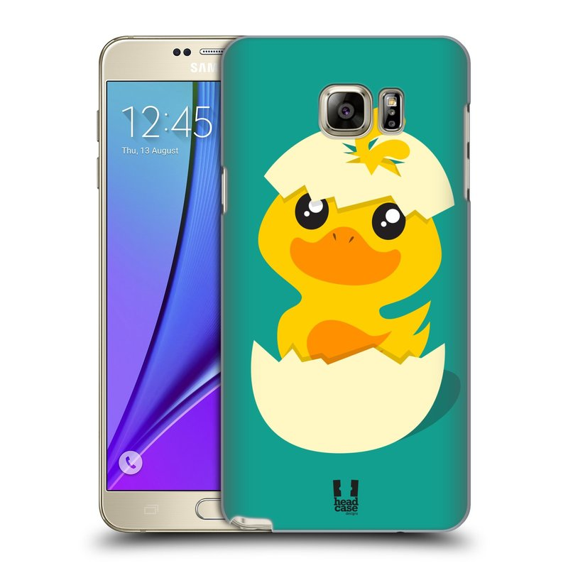 Plastové pouzdro na mobil Samsung Galaxy Note 5 HEAD CASE KACHNIČKA Z VAJÍČKA (Kryt či obal na mobilní telefon Samsung Galaxy Note 5 SM-N920)