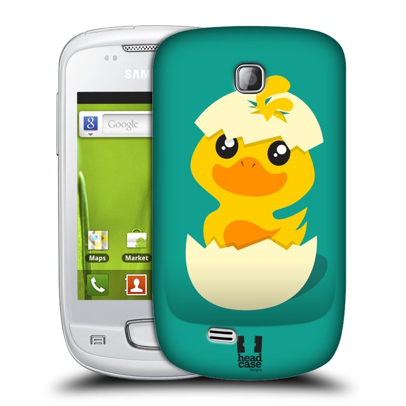 Plastové pouzdro na mobil Samsung Galaxy Mini HEAD CASE KACHNIČKA Z VAJÍČKA (Kryt či obal na mobilní telefon Samsung Galaxy Mini GT-S5570 / GT-S5570i)