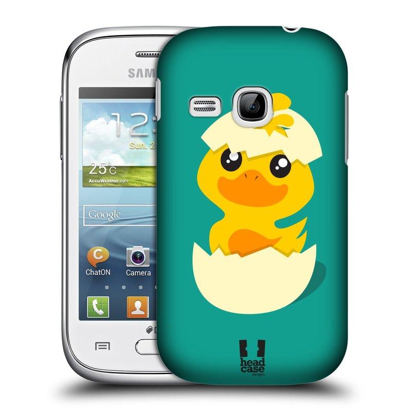 Plastové pouzdro na mobil Samsung Galaxy Young HEAD CASE KACHNIČKA Z VAJÍČKA (Kryt či obal na mobilní telefon Samsung Galaxy Young GT-S6310)