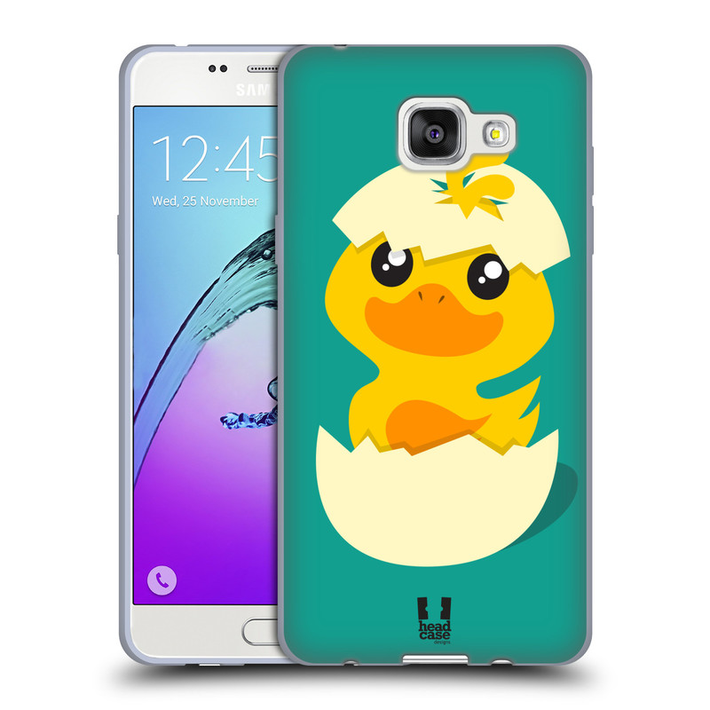 Silikonové pouzdro na mobil Samsung Galaxy A5 (2016) HEAD CASE KACHNIČKA Z VAJÍČKA (Silikonový kryt či obal na mobilní telefon Samsung Galaxy A5 (2016) SM-A510F)