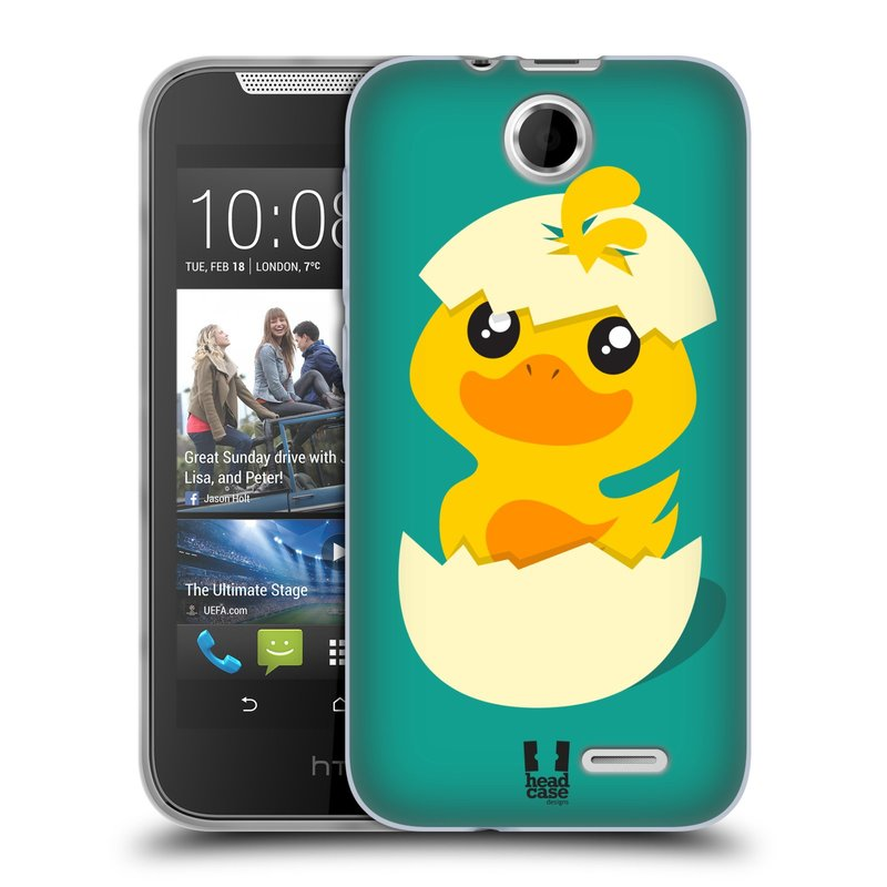 Silikonové pouzdro na mobil HTC Desire 310 HEAD CASE KACHNIČKA Z VAJÍČKA (Silikonový kryt či obal na mobilní telefon HTC Desire 310)
