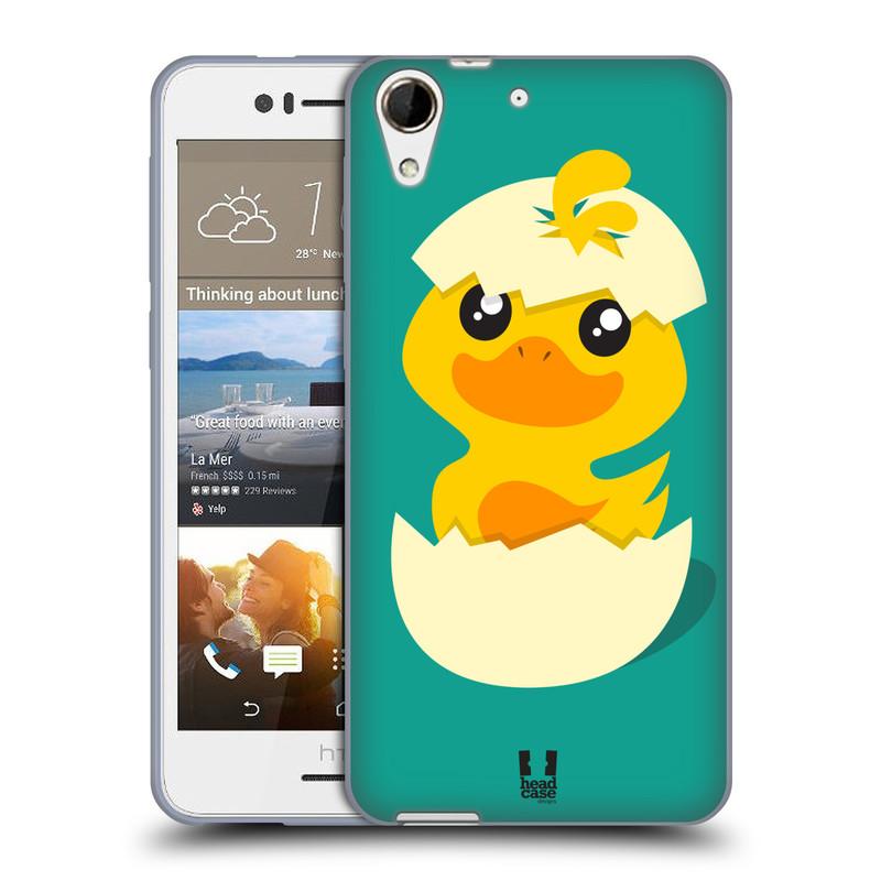 Silikonové pouzdro na mobil HTC Desire 728G Dual SIM HEAD CASE KACHNIČKA Z VAJÍČKA (Silikonový kryt či obal na mobilní telefon HTC Desire 728 G Dual SIM)