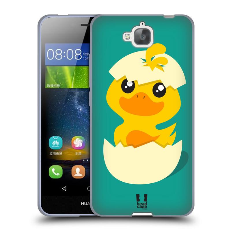 Silikonové pouzdro na mobil Huawei Y6 Pro Dual Sim HEAD CASE KACHNIČKA Z VAJÍČKA (Silikonový kryt či obal na mobilní telefon Huawei Y6 Pro / Huawei Y6 Pro Dual SIM / Huawei Enjoy 5)