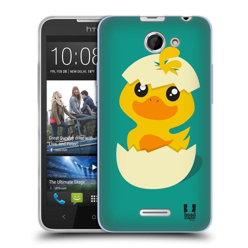 Silikonové pouzdro na mobil HTC Desire 516 HEAD CASE KACHNIČKA Z VAJÍČKA (Silikonový kryt či obal na mobilní telefon HTC Desire 516 Dual SIM)