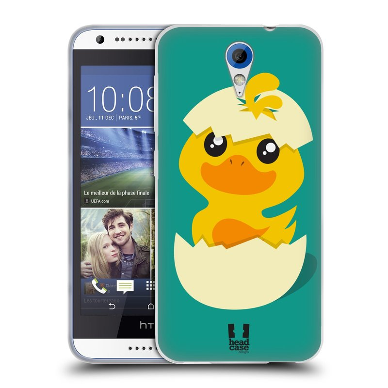 Silikonové pouzdro na mobil HTC Desire 620 HEAD CASE KACHNIČKA Z VAJÍČKA (Silikonový kryt či obal na mobilní telefon HTC Desire 620)