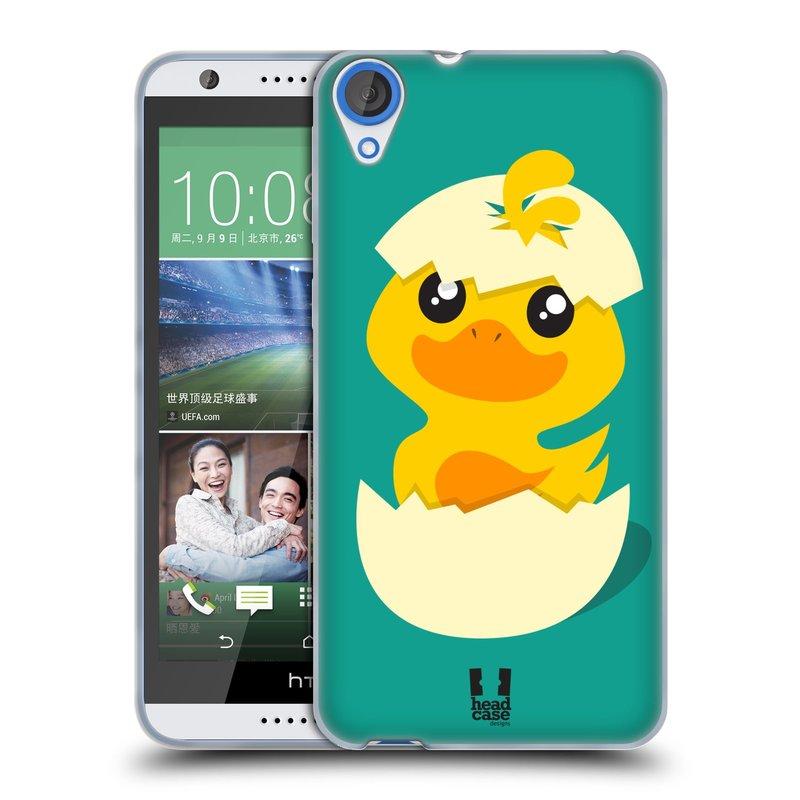 Silikonové pouzdro na mobil HTC Desire 820 HEAD CASE KACHNIČKA Z VAJÍČKA (Silikonový kryt či obal na mobilní telefon HTC Desire 820)