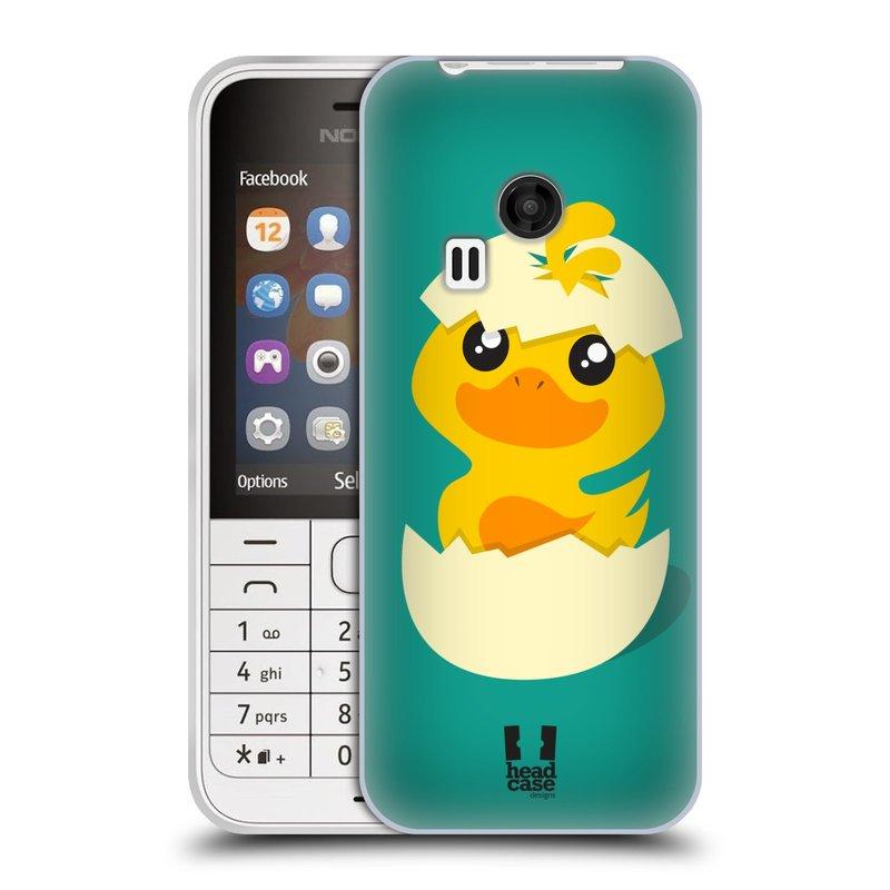 Silikonové pouzdro na mobil Nokia 220 HEAD CASE KACHNIČKA Z VAJÍČKA (Silikonový kryt či obal na mobilní telefon Nokia 220 a 220 Dual SIM)