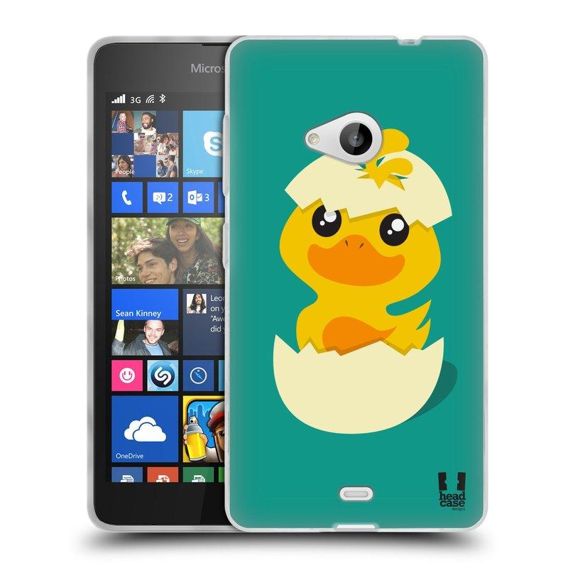 Silikonové pouzdro na mobil Microsoft Lumia 535 HEAD CASE KACHNIČKA Z VAJÍČKA (Silikonový kryt či obal na mobilní telefon Microsoft Lumia 535)