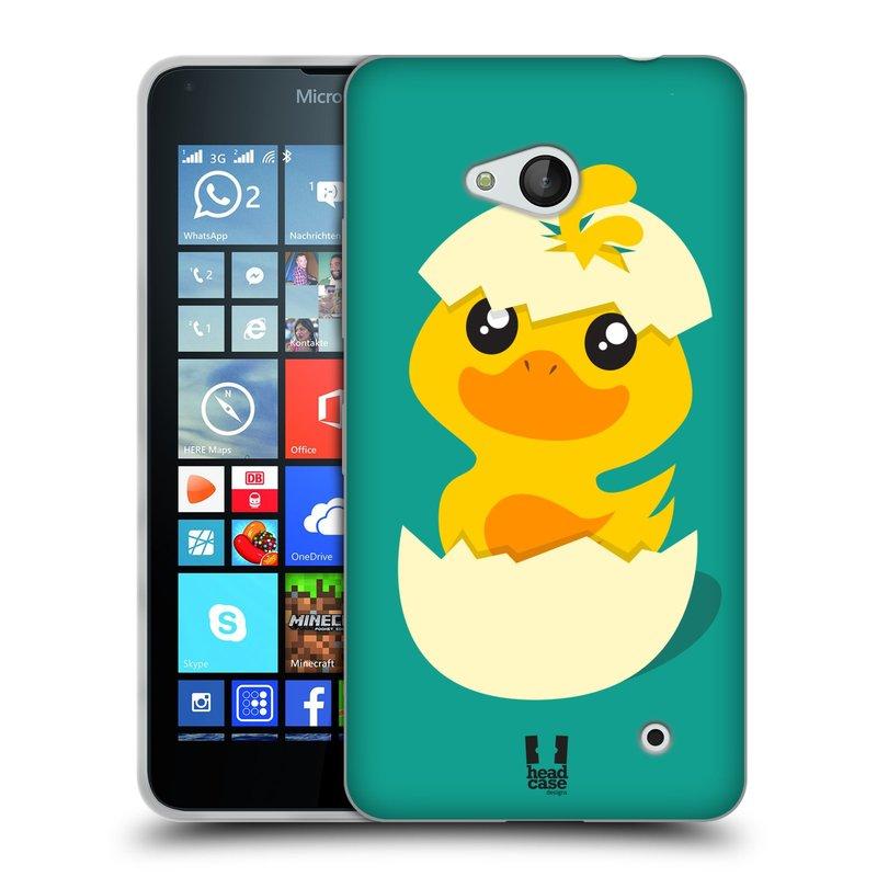 Silikonové pouzdro na mobil Microsoft Lumia 640 HEAD CASE KACHNIČKA Z VAJÍČKA (Silikonový kryt či obal na mobilní telefon Microsoft Lumia 640)