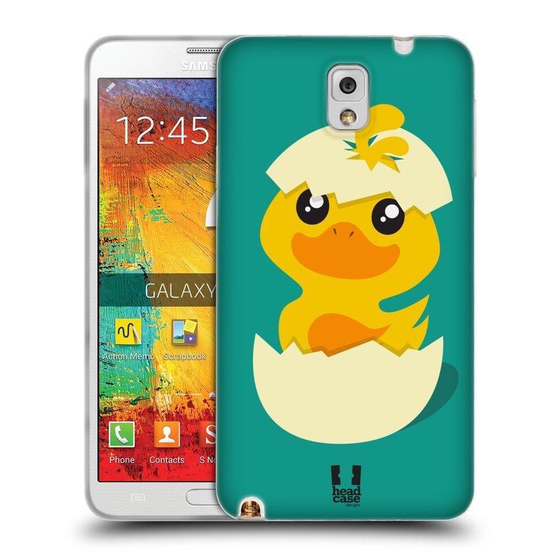 Silikonové pouzdro na mobil Samsung Galaxy Note 3 HEAD CASE KACHNIČKA Z VAJÍČKA (Silikonový kryt či obal na mobilní telefon Samsung Galaxy Note 3 SM-N9005)