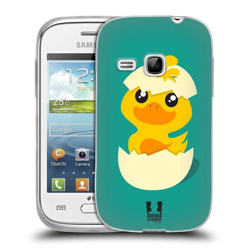 Silikonové pouzdro na mobil Samsung Galaxy Young HEAD CASE KACHNIČKA Z VAJÍČKA (Silikonový kryt či obal na mobilní telefon Samsung Galaxy Young GT-S6310)