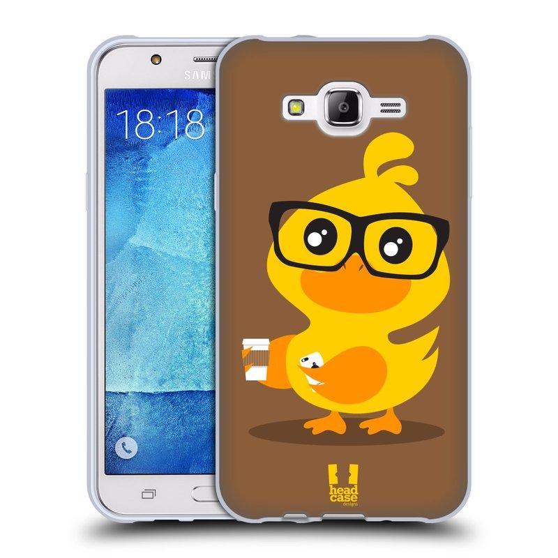 Silikonové pouzdro na mobil Samsung Galaxy J7 HEAD CASE KACHNIČKA HIPSTERKA (Silikonový kryt či obal na mobilní telefon Samsung Galaxy J7 SM-J700)