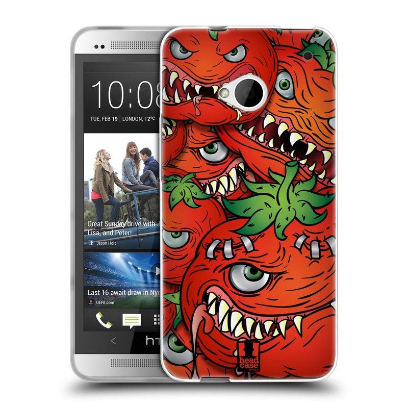 Silikonové pouzdro na mobil HTC ONE M7 HEAD CASE Rajčátka (Silikonový kryt či obal na mobilní telefon HTC ONE M7)