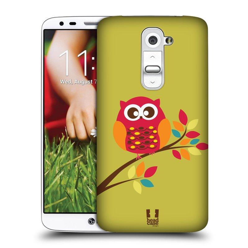 Plastové pouzdro na mobil LG G2 HEAD CASE SOVIČKA NA VĚTVI (Kryt či obal na mobilní telefon LG G2 D802)