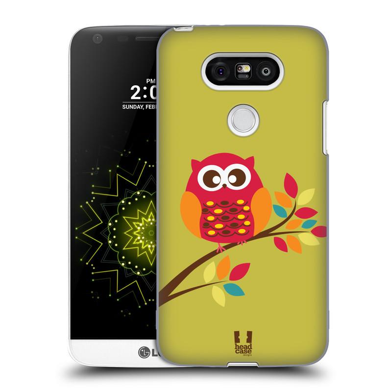 Plastové pouzdro na mobil LG G5 HEAD CASE SOVIČKA NA VĚTVI (Kryt či obal na mobilní telefon LG G5 H850)