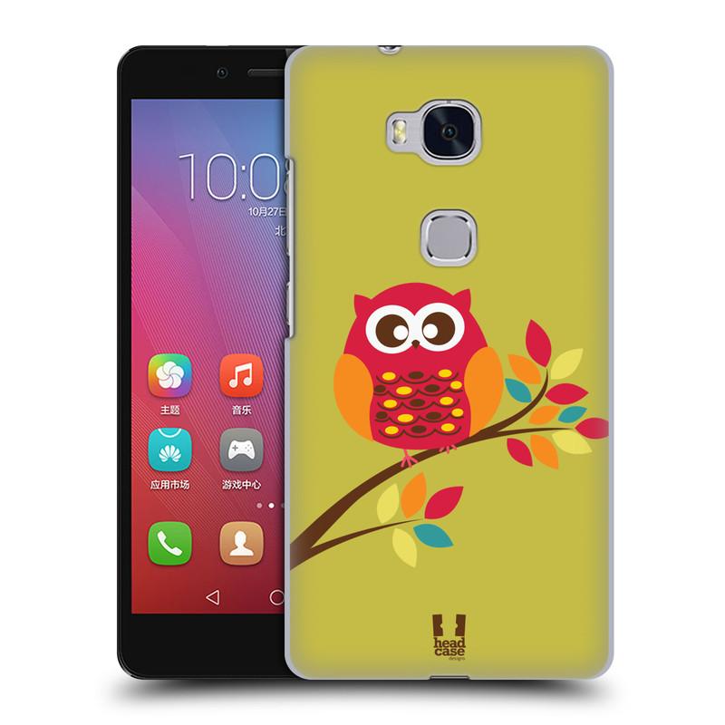 Plastové pouzdro na mobil Honor 5X HEAD CASE SOVIČKA NA VĚTVI (Kryt či obal na mobilní telefon Huawei Honor 5X)
