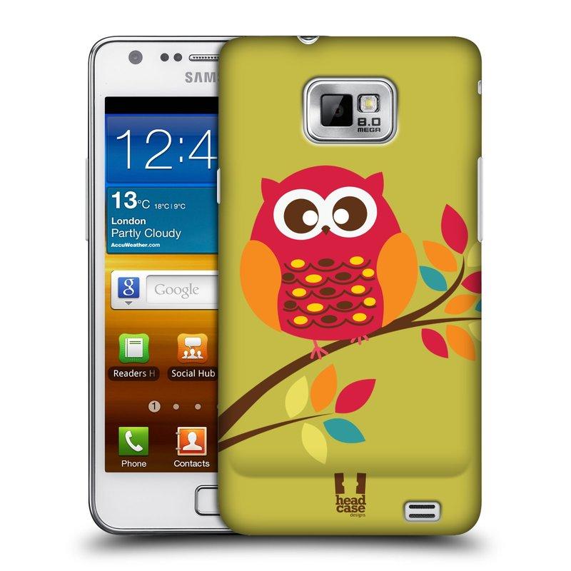 Plastové pouzdro na mobil Samsung Galaxy S II HEAD CASE SOVIČKA NA VĚTVI (Kryt či obal na mobilní telefon Samsung Galaxy S II GT-i9100)