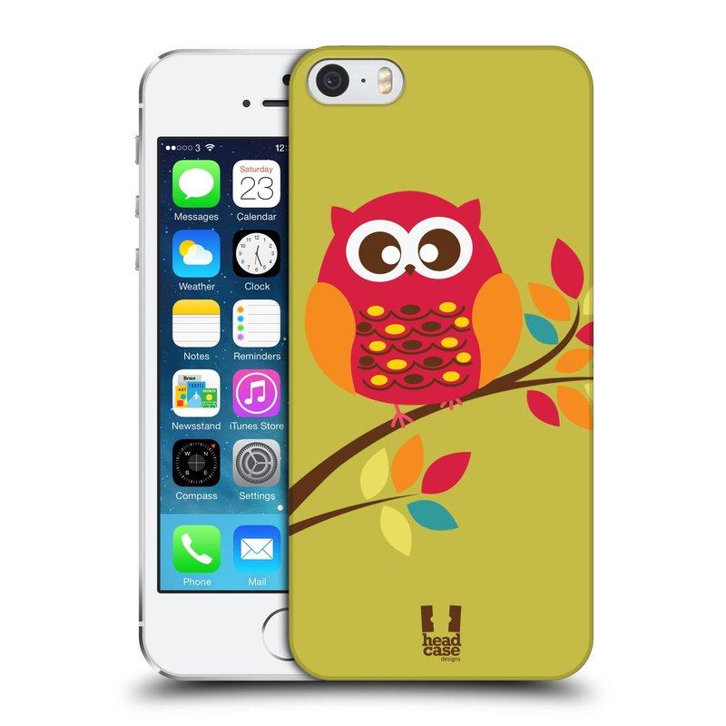 Plastové pouzdro na mobil Apple iPhone SE, 5 a 5S HEAD CASE SOVIČKA NA VĚTVI (Kryt či obal na mobilní telefon Apple iPhone SE, 5 a 5S)