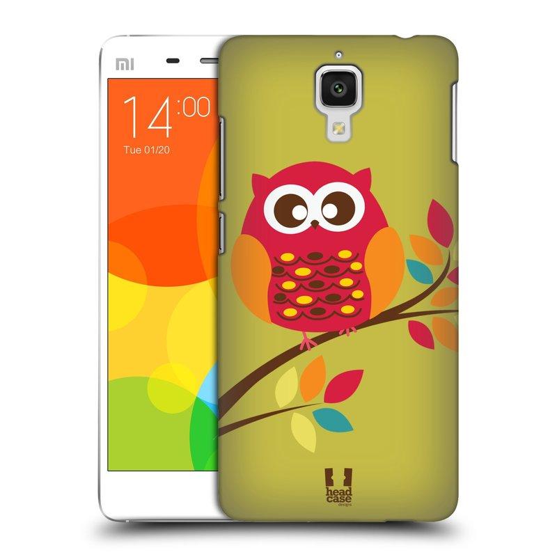 Plastové pouzdro na mobil Xiaomi Mi4 HEAD CASE SOVIČKA NA VĚTVI (Kryt či obal na mobilní telefon Xiaomi Mi4)